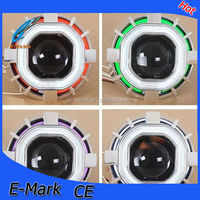 2015 new style headlight 2.8 inch square projector lens with dual color angel eyes for cars