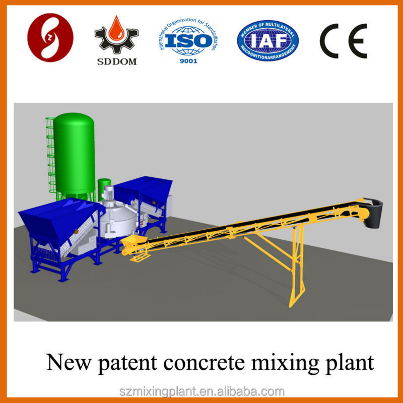 Sample structure 20-25m3/h mobile concrete batching plant on sale