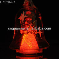 Wholesale led decoration christmas bell with angel inside
