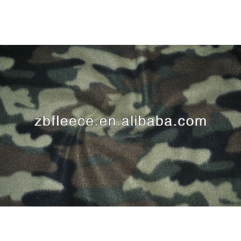 100% polyester antipilling/not antipilling camouflage polar fleece fabric