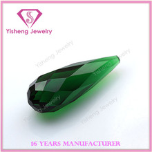 AAA High Quality Drop Bead 3D Cut Face Natural Green Glass Peridot Pendant