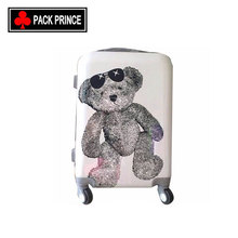 Unique design custom travel hard case trolley lovely print abs pc kids luggage