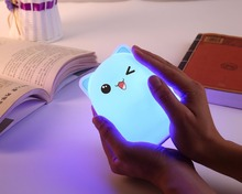 Safe House Night Light, Color Night Light for Baby, Tap Control Lamp with Rechargeable Battery