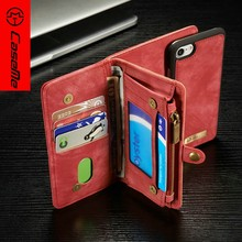 CaseMe 2 in 1 wallet leather case for iPhone 7 7 Plus,mobile phone accessories