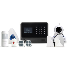 Wireless wifi gsm touch screen alarm panel with Contact ID function smart home 868MHZ/433MHz security GSM alarm system