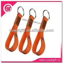 2014 Cheap promotional loop silicone key chain