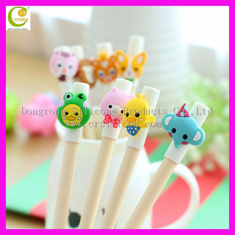 Factory Custom Made Creative Soft Body Rubber/Silicone grass leaf Ballpoint Pen for Promotion