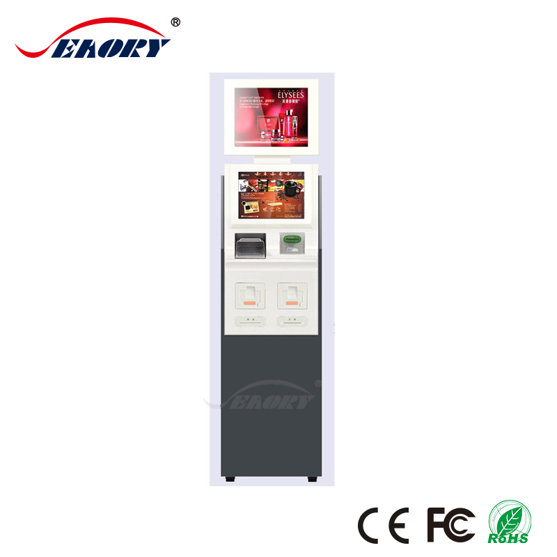 Custom Bill Payment Self Service Financial Service Kiosks With Terminal Dispense Prepaid Smart Card