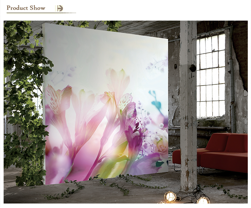 Big Flowers Design Non-woven Digital Wall Wallpaper