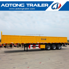 China 3 axles side wall truck trailers/high flat bed semi-trailer with side walls/bulk cargo box semi trailer