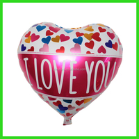 "18"" Decorate room helium gas love heart foil balloon"