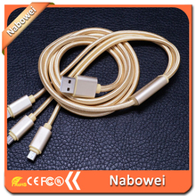 Cost price special discount 3 in 1 three in one usb data cable braided