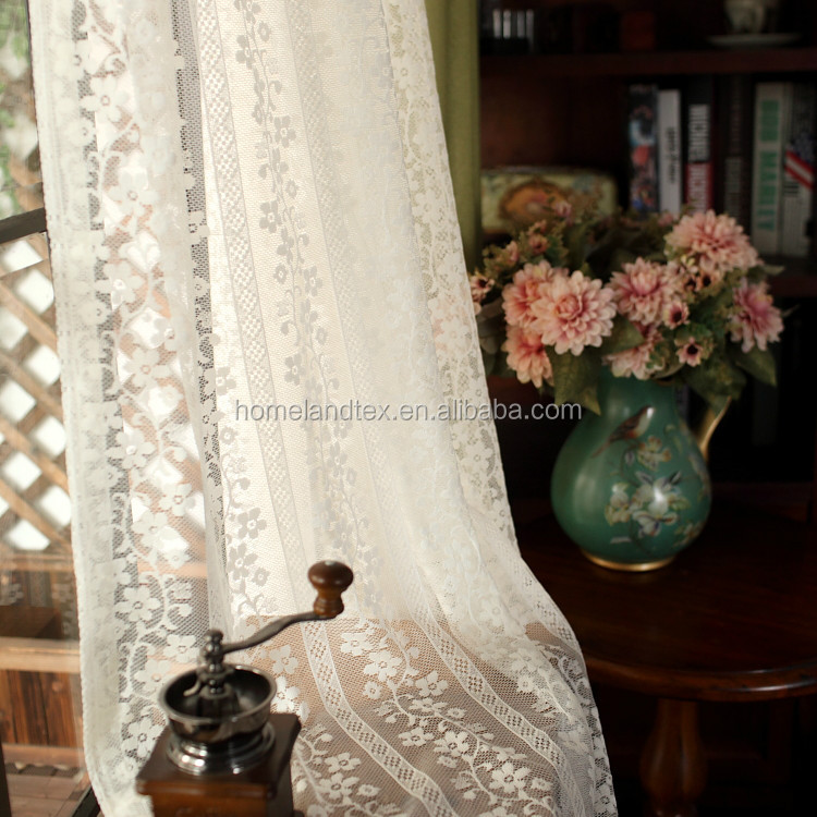 2016 French Lace Fabric Handmade embroidery designs flower lace curtain
