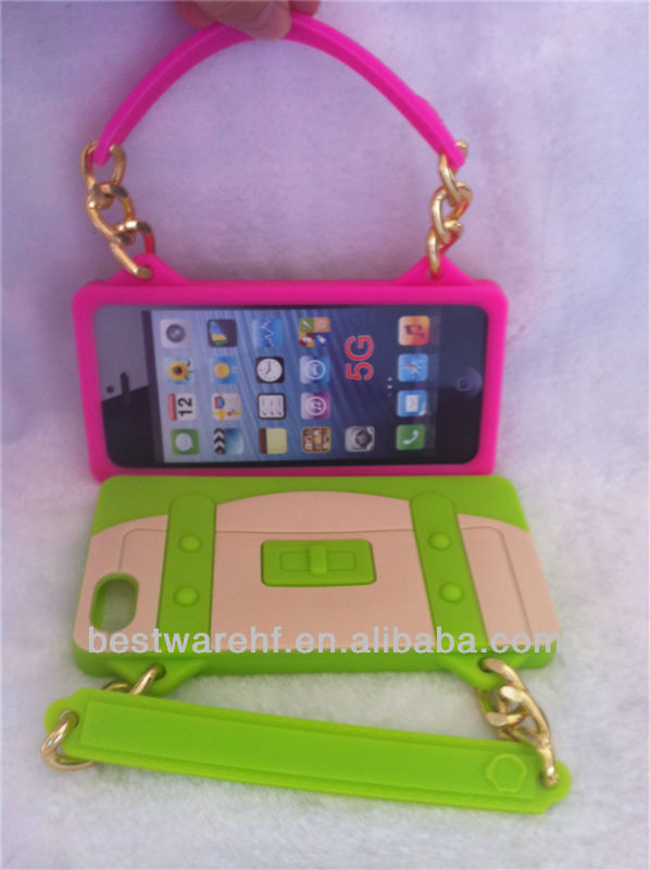 2013 fashion design mobile phone accessories /silicone case for iPhone5
