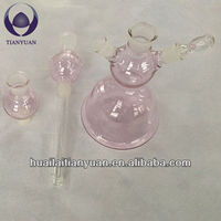 hand made borosilicate hot pink hookahs