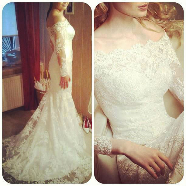 Real model wedding dress