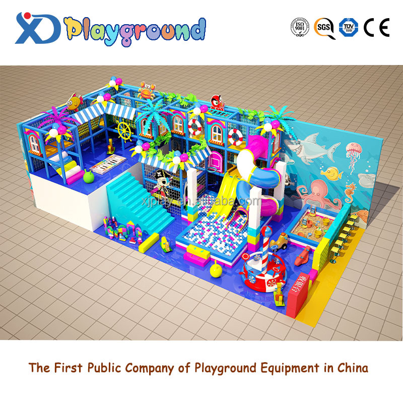 Newest plastic hot sell kids indoor playground for shopping center