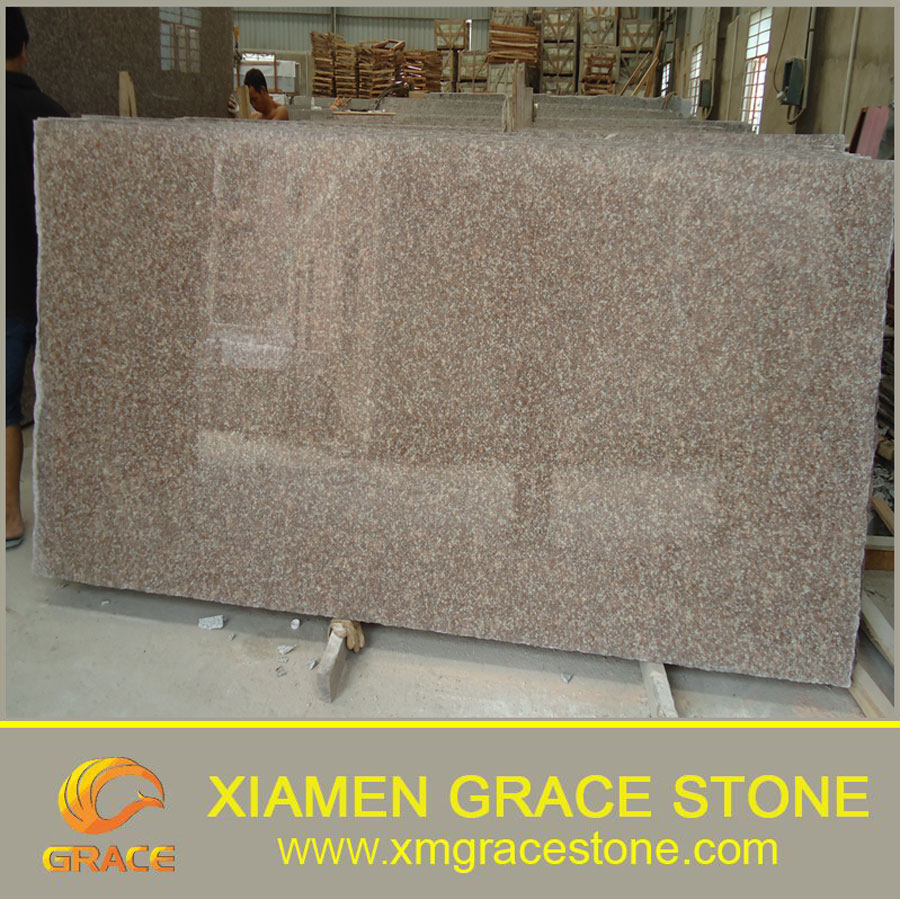 Chinese Cheap Pink Granite G687 Peach Red Granite Slab Price For Wholesale