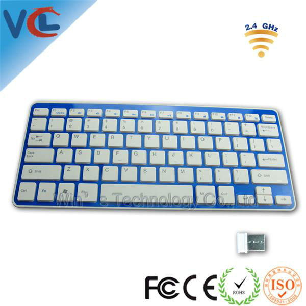 Shenzhen ISO Factory Multifunctional New Style 2.4G Wireless Bluetooth Keyboard