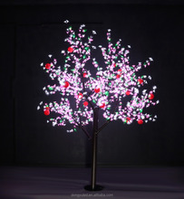 iron trunk multi-color landscape led fiber optic branch cherry tree light