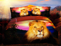 Wholesale Africa style lion king digital photo Printed hotel spreads set 3d
