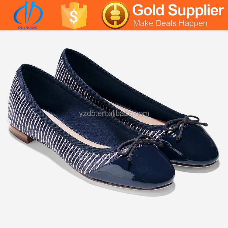 Latest design top quality ballet flat women's dress shoes