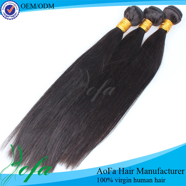 Unprocessed best quality peruvian straight 6 inch hair weaving