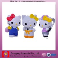 Famous cute Japan hello kitty plastic toys,small cheap figure plastic toys, popular plastic toys/OEM are welcome