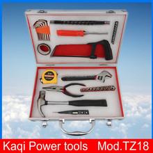 KaQi power tools, Beautiful aluminum alloy box household tools, 35 pieces of hardware kit