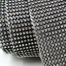 Rhinestone Tape Iron-on Crystal Strass Patch for Clothing Decoration