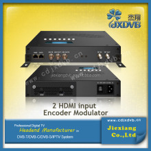 Converting HD A/V signals to DVB-T RF out IP encoder modulator
