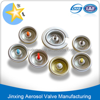 Silicone lubricant spray valve for aerosol can