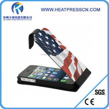vertical open sublimation leather phone cases for IPHONE 4/4S