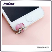 2015 Phone Accessories Cute Pink Heart Dust Plug For Iphone 6/5/5s