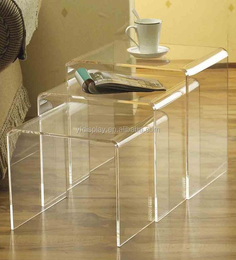 Прозрачный акриловый журнальный столик комплект-Журнальные столы-ID товара на Alibaba: 60260883964-allbuyshop.ru