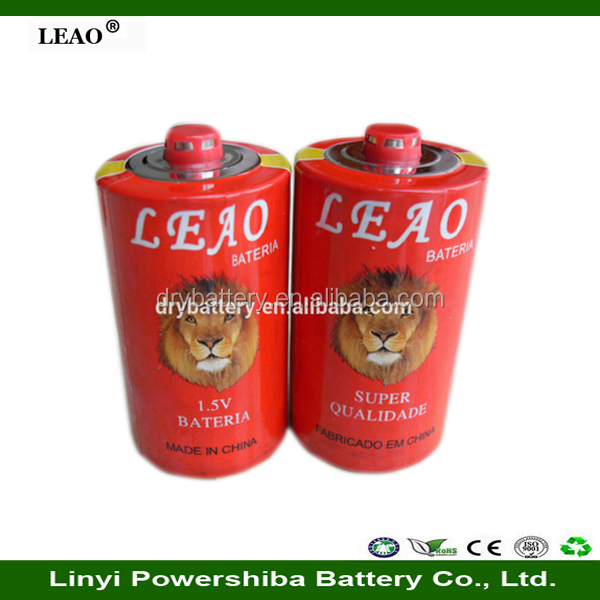 Carbon Zinc Battery 1.5V R20p Um1 PVC Jacket D Size