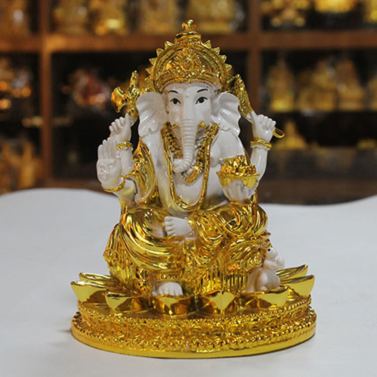 Wholesale Traditional Religious Elephant Hindu God Figurines Ganesha Statue
