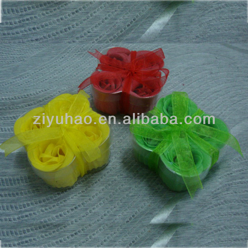 High quality hand carved soap flowers,decoration flower soap