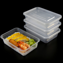 disposable clear 500ml plastic food containers with lids wholesale