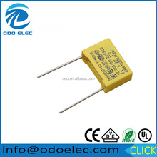High quality Yellow box Interference suppression mkp x2 capacitor 0.1uf 275v