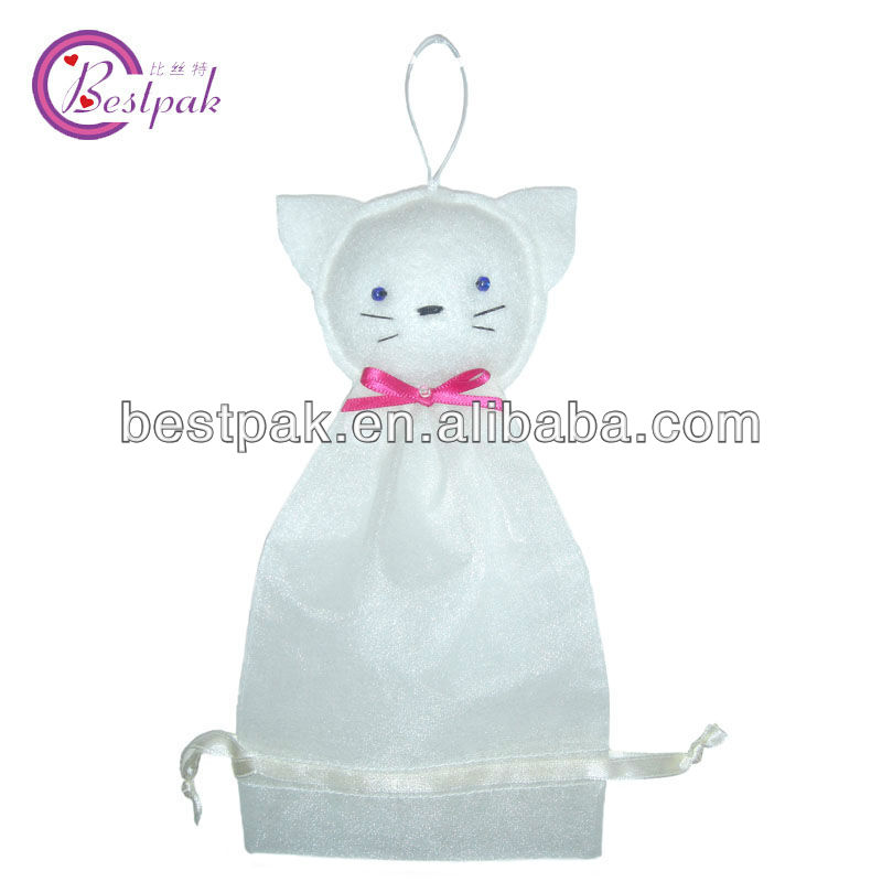 christmas gift organza drawstring fabric pouch bag