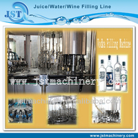 Glass bottle automatic liquor bottling plant / line