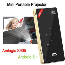 4K HD Android 5.1 Portable Mini Pocket Mobile Smart Projector With WIFI HDMI
