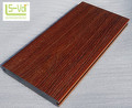 natural fiber wood grain co-extrusion wpc decking