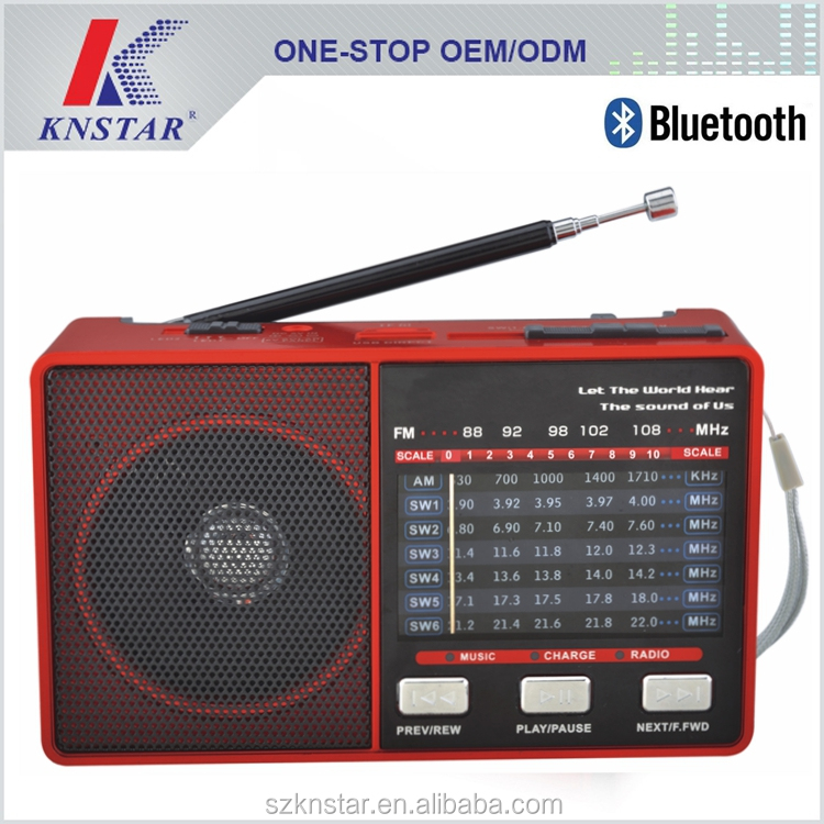 USB FM radio bluetooth speakers with rechargeable battery