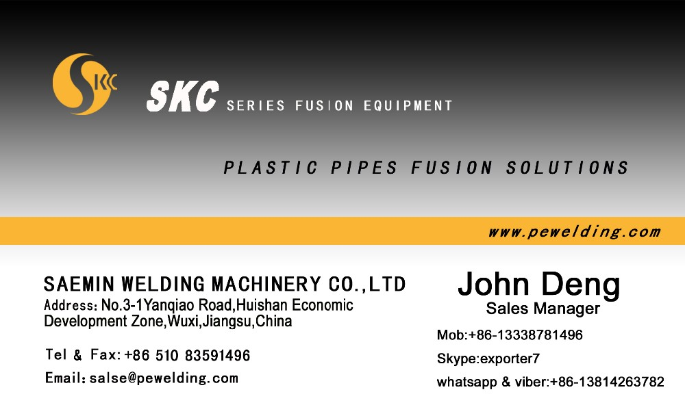 SKC-MA800 HDPE workshop fitting machine for welding fabricate pipe elbow tee cross
