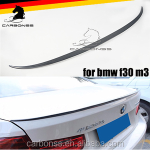 CARBON FIBER REAR BOOT LIP SPOILER FOR BMW F30 M3 2013+