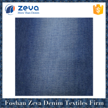 Best selling navy blue light weight recycle denim machine fabric denim jeans fabric