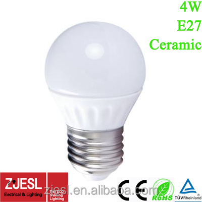 cheaper super bright G45 E27 4W cool white led candle light bulb