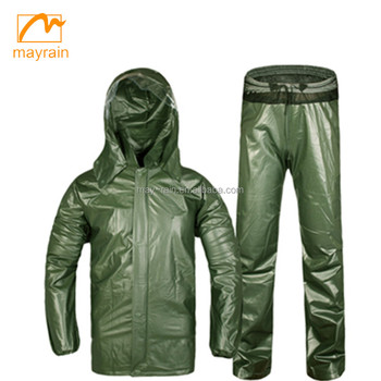 OEM service heavy duty Waterproof PVC Rainsuit